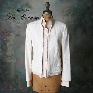 Les Copaines Cream Blazer W/Built In Shirt Blush